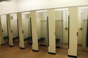shower stalls, SMYMCA Camp Conrad Weiser