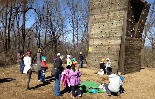 Wall climbing in Reading, Pa
